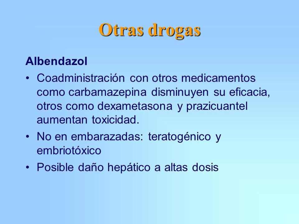 Otras drogas Albendazol