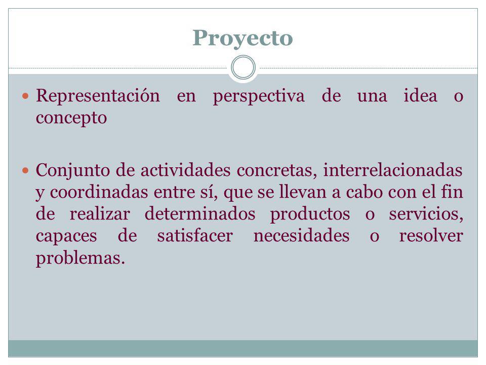 Proyecto Representación en perspectiva de una idea o concepto