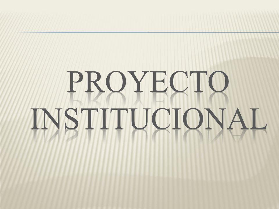 PROYECTO INSTITUCIONAL