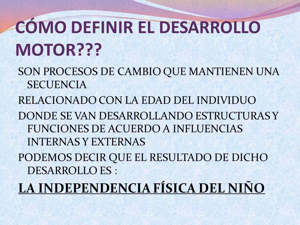 CÓMO DEFINIR EL DESARROLLO MOTOR