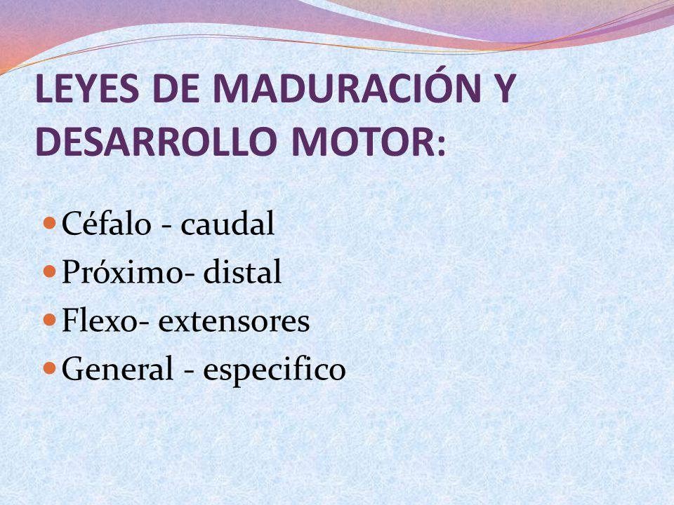 LEYES DE MADURACIÓN Y DESARROLLO MOTOR: