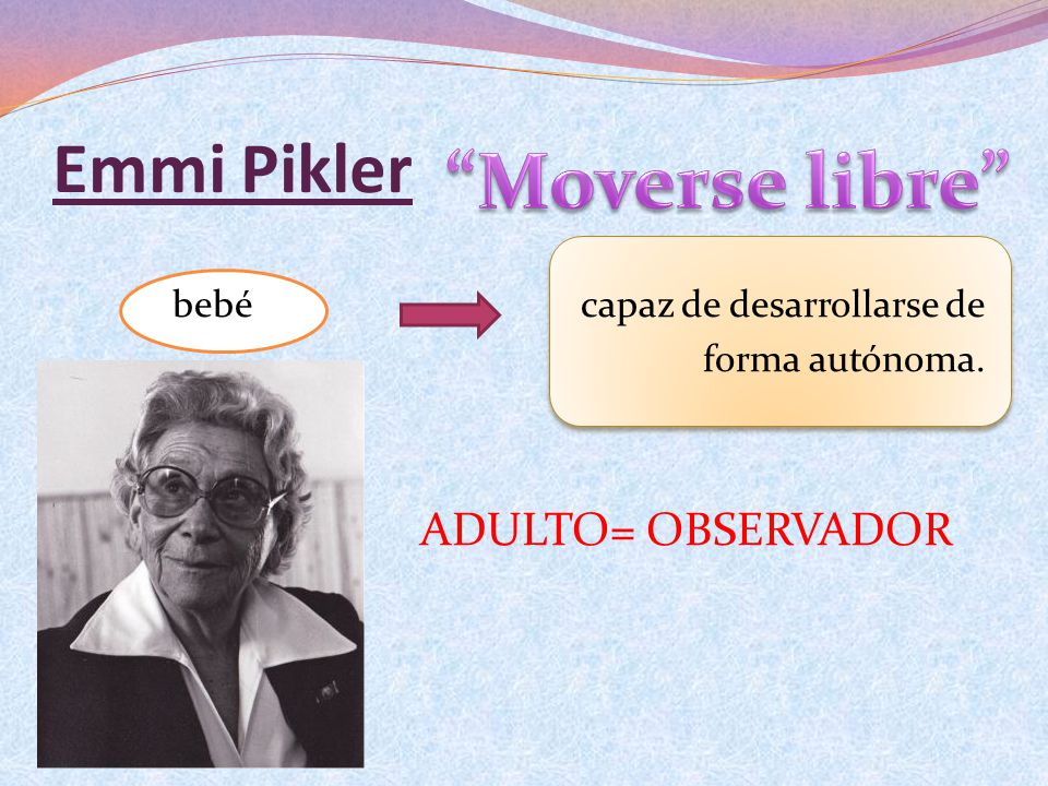 Moverse libre Emmi Pikler ADULTO= OBSERVADOR
