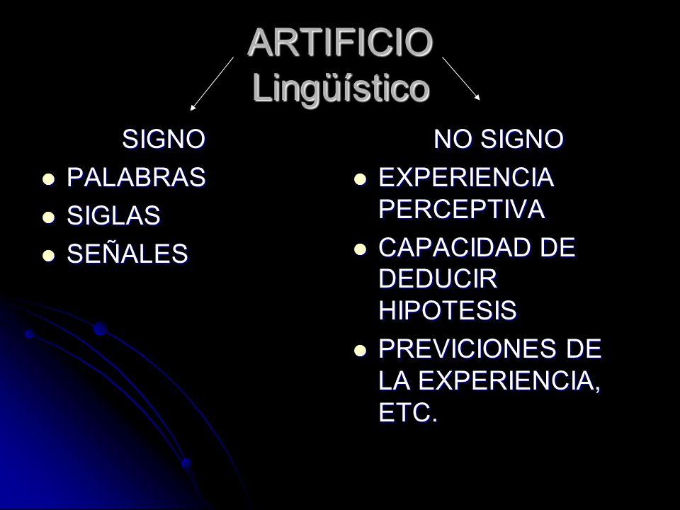 ARTIFICIO Lingüístico