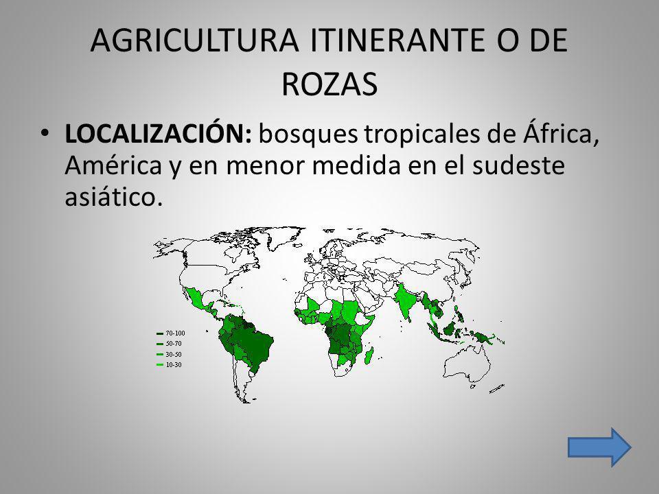 AGRICULTURA ITINERANTE O DE ROZAS