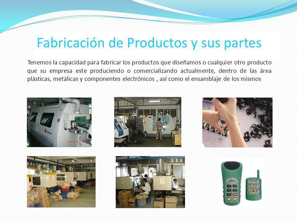 Fabricación de Productos y sus partes