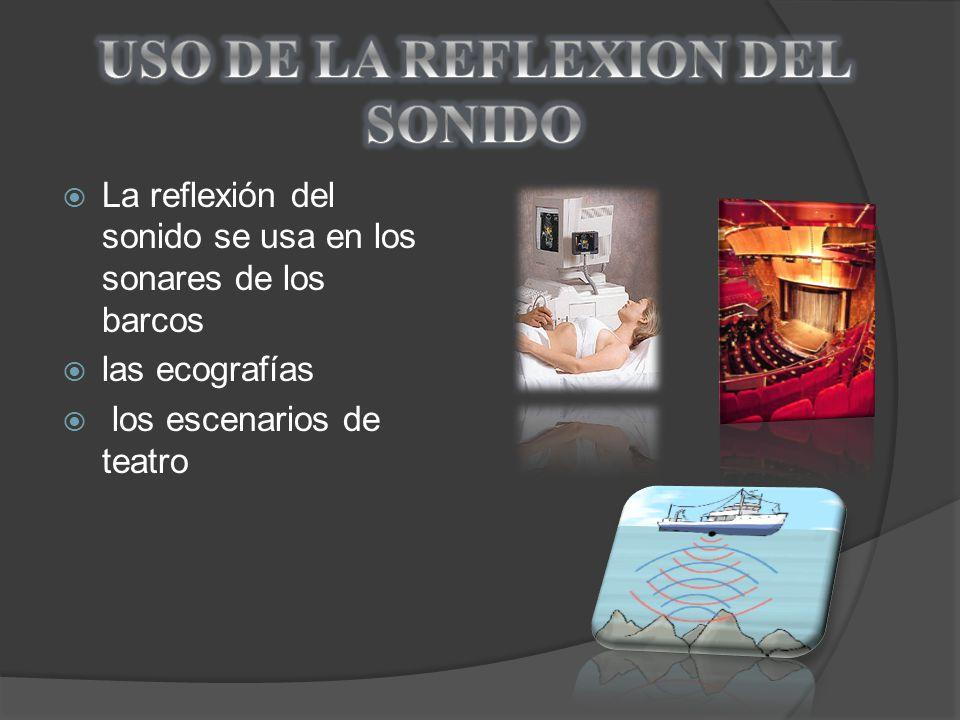 USO DE LA REFLEXION DEL SONIDO