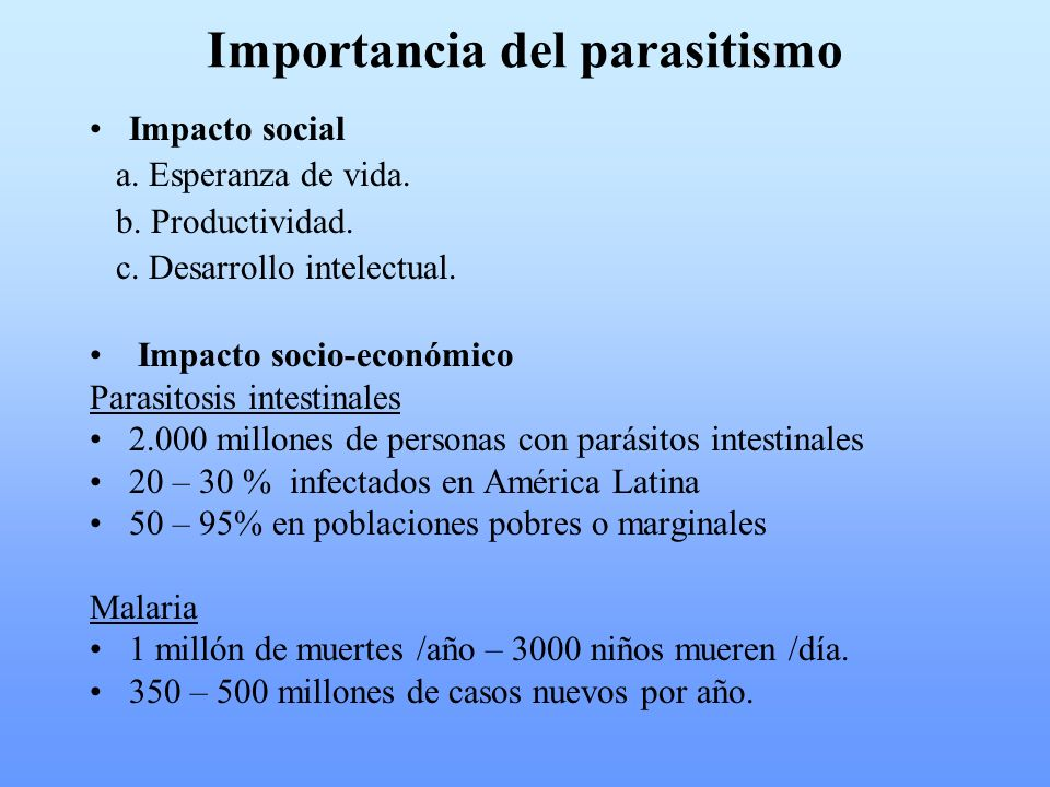 Importancia del parasitismo