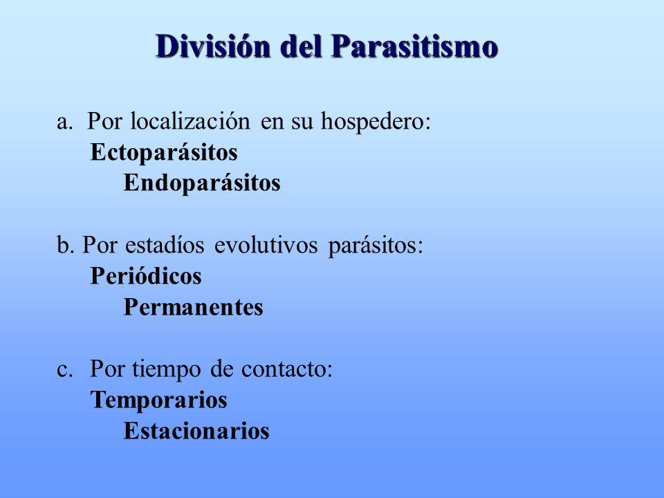 División del Parasitismo