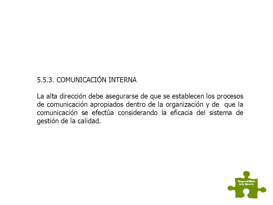 5.5.3. COMUNICACIÓN INTERNA
