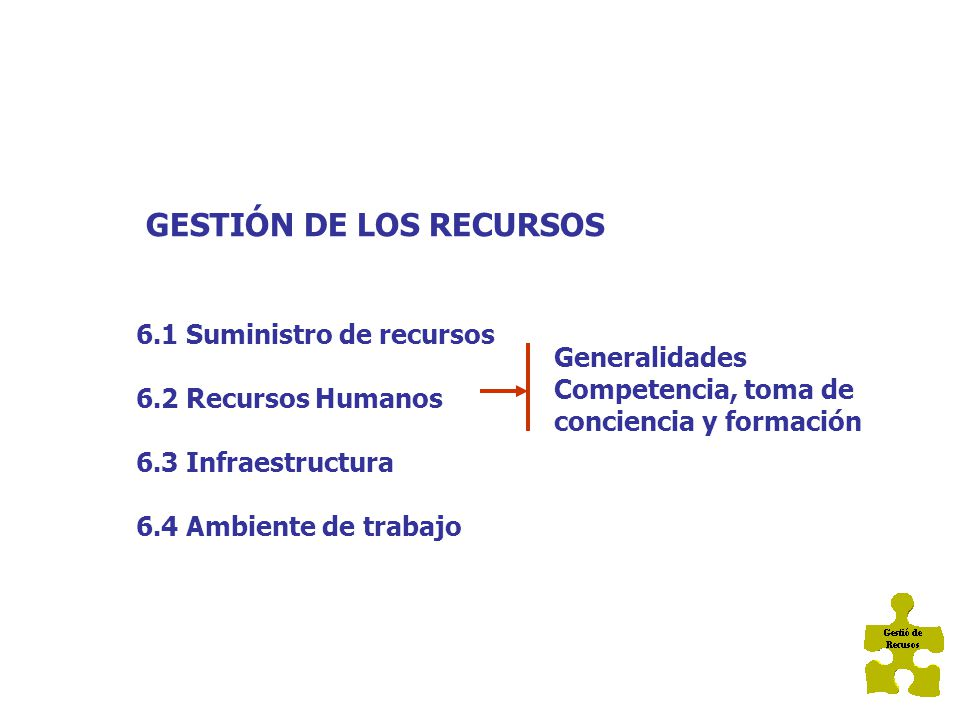 GESTIÓN DE LOS RECURSOS