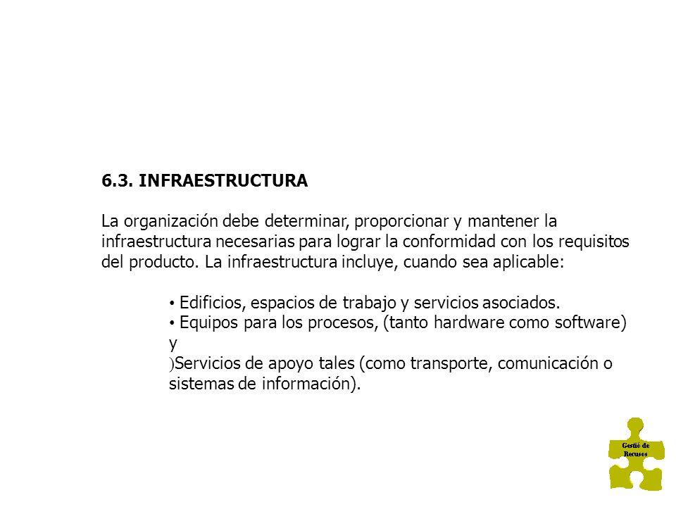 6.3. INFRAESTRUCTURA