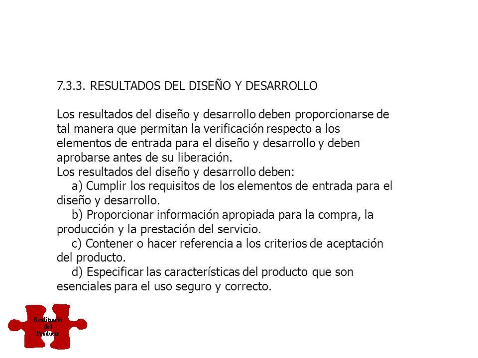 7.3.3. RESULTADOS DEL DISEÑO Y DESARROLLO