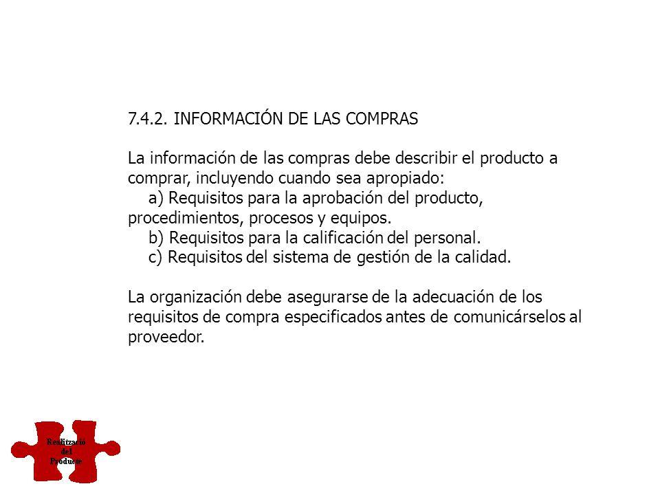 7.4.2. INFORMACIÓN DE LAS COMPRAS
