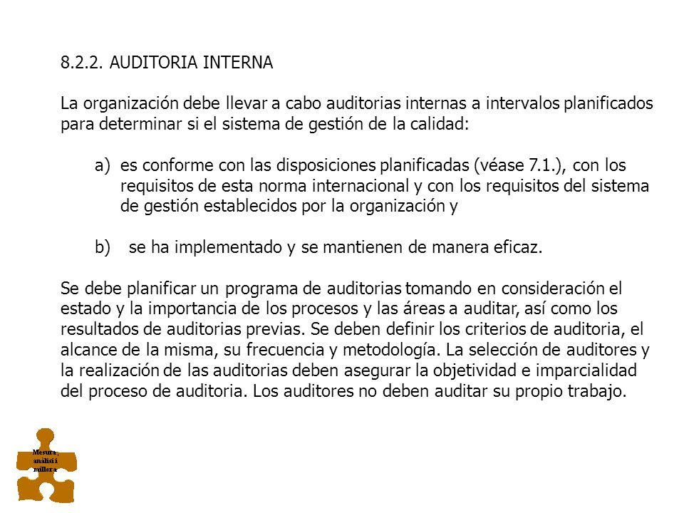 8.2.2. AUDITORIA INTERNA