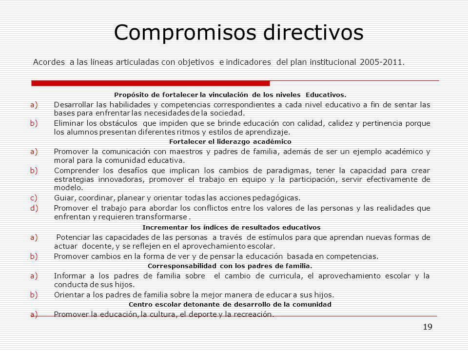 Compromisos directivos