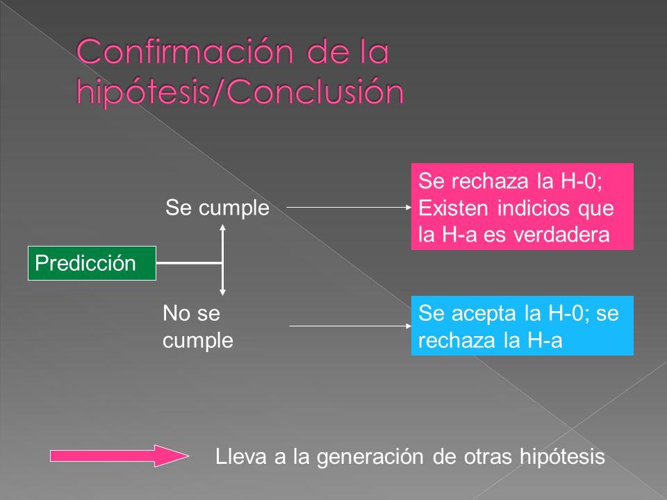 Confirmación de la hipótesis/Conclusión