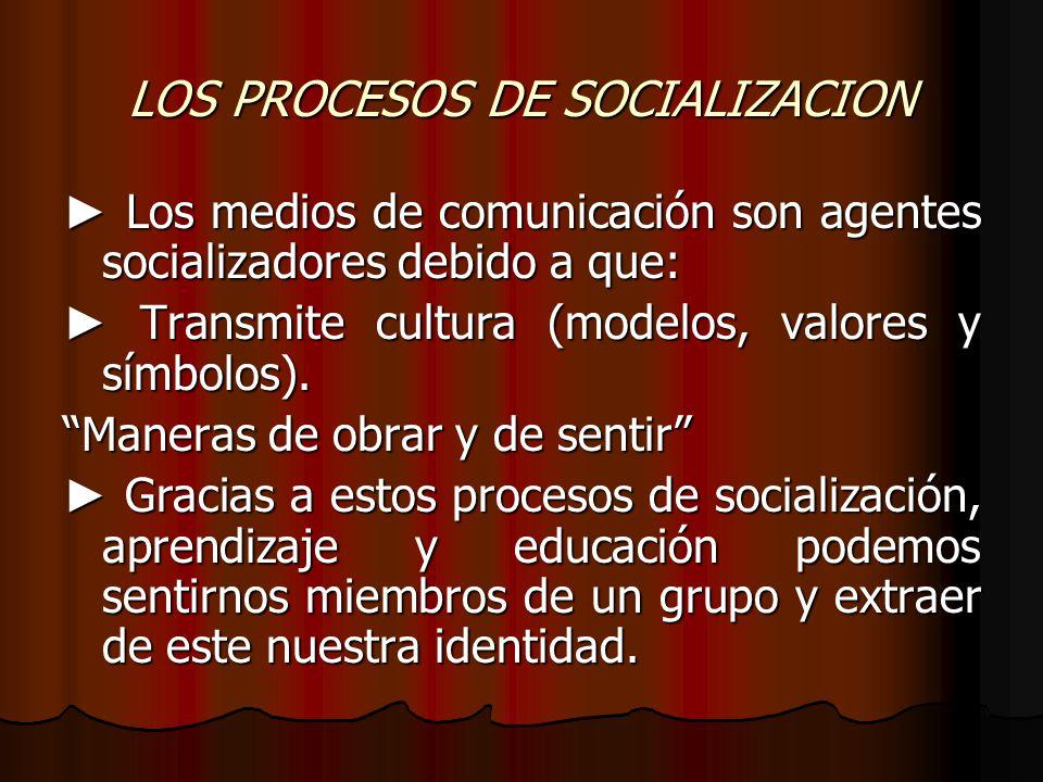 LOS PROCESOS DE SOCIALIZACION