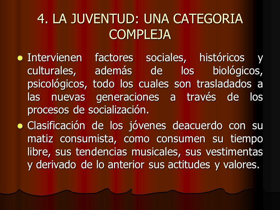 4. LA JUVENTUD: UNA CATEGORIA COMPLEJA