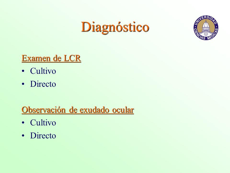 Diagnóstico Examen de LCR Cultivo Directo