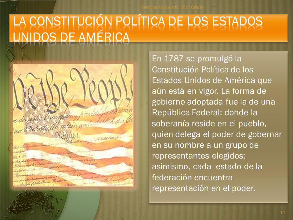 La Constitución Política de los Estados Unidos de América