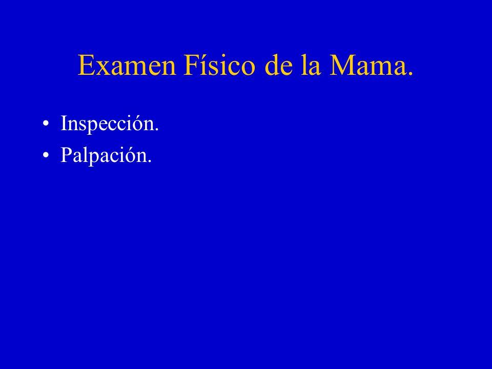 Examen Físico de la Mama.