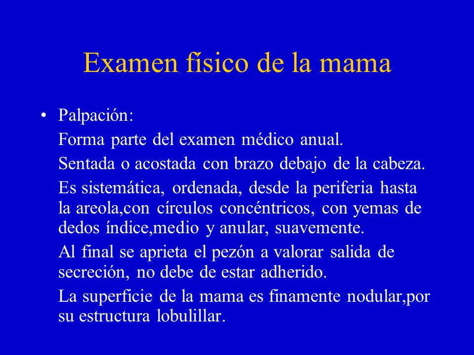 Examen físico de la mama