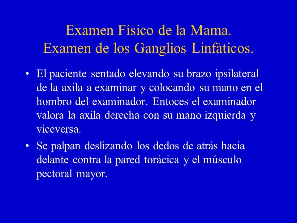 Examen Físico de la Mama. Examen de los Ganglios Linfáticos.