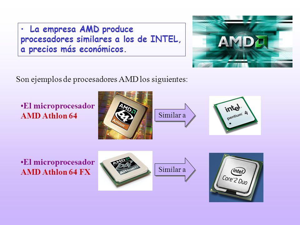 Son ejemplos de procesadores AMD los siguientes: