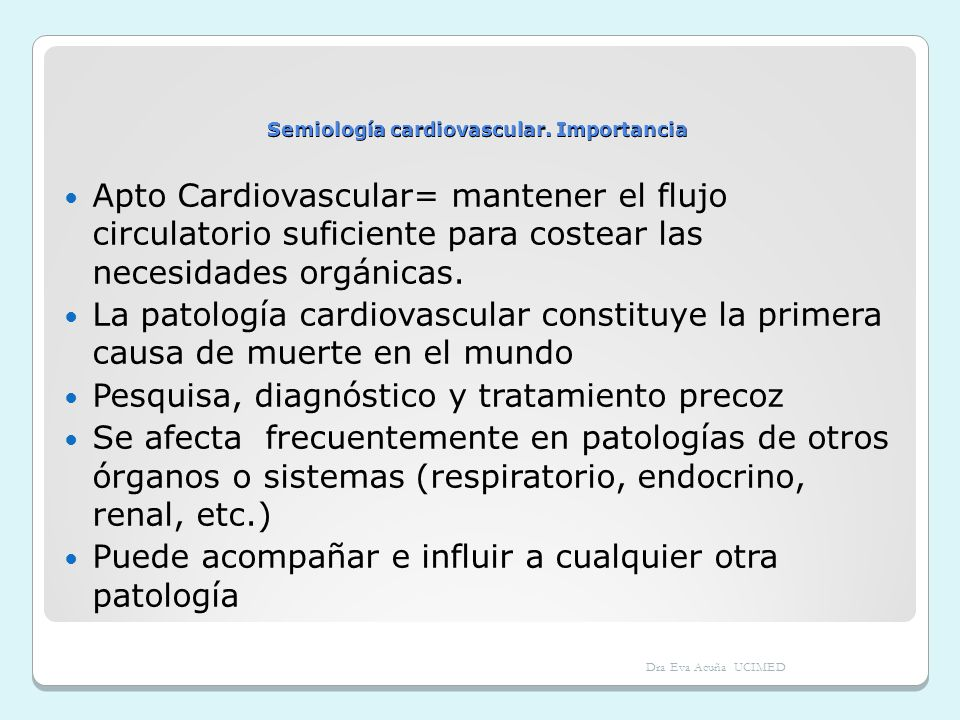 Semiología cardiovascular. Importancia