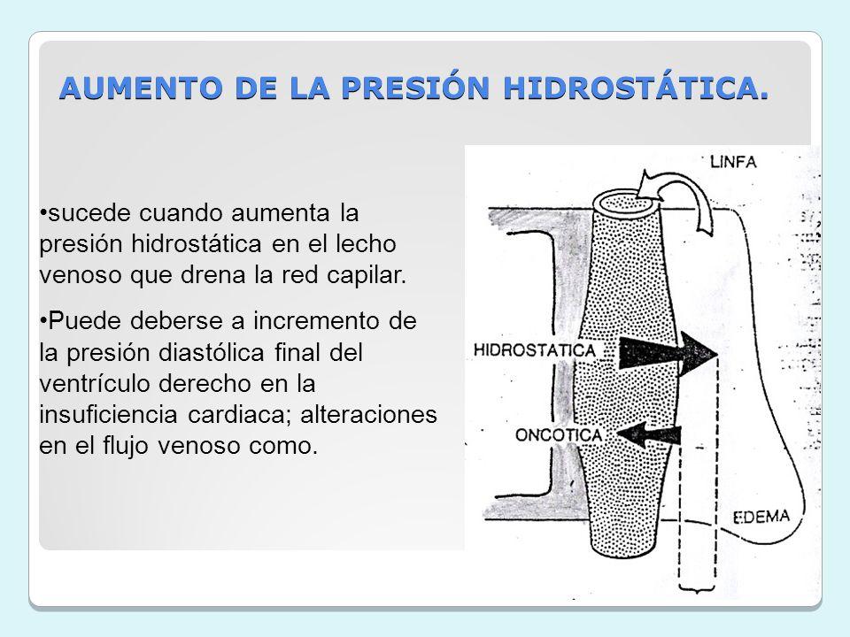 AUMENTO DE LA PRESIÓN HIDROSTÁTICA.