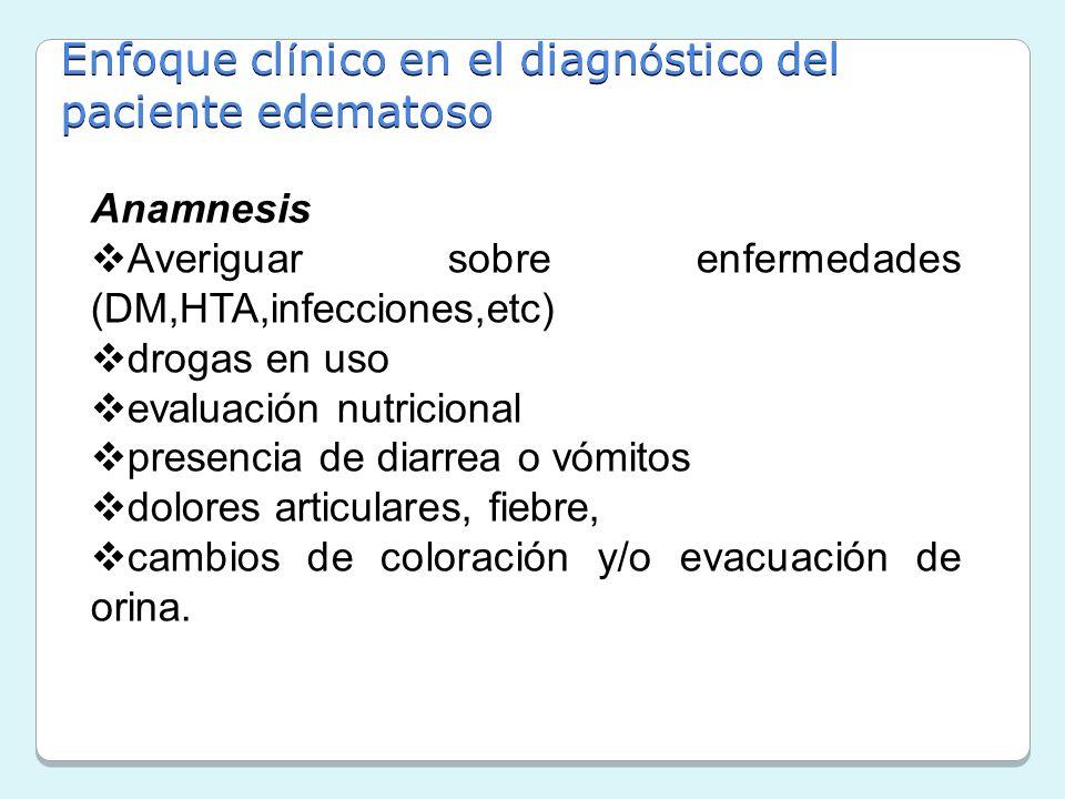 Enfoque clínico en el diagnóstico del paciente edematoso