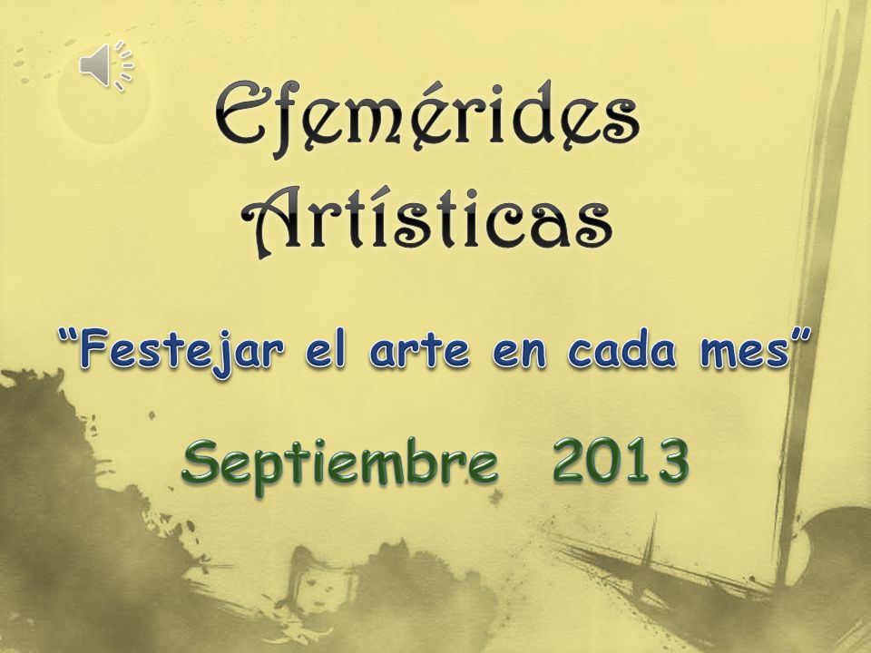 Efemérides Artísticas