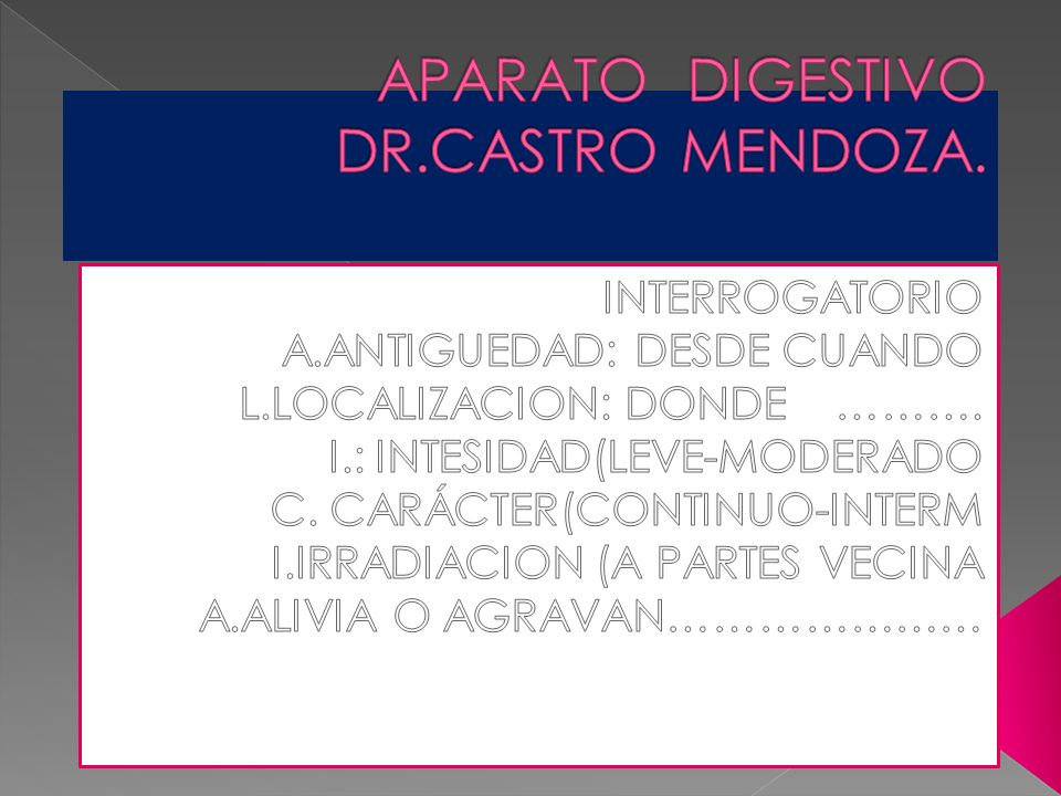 APARATO DIGESTIVO DR.CASTRO MENDOZA.
