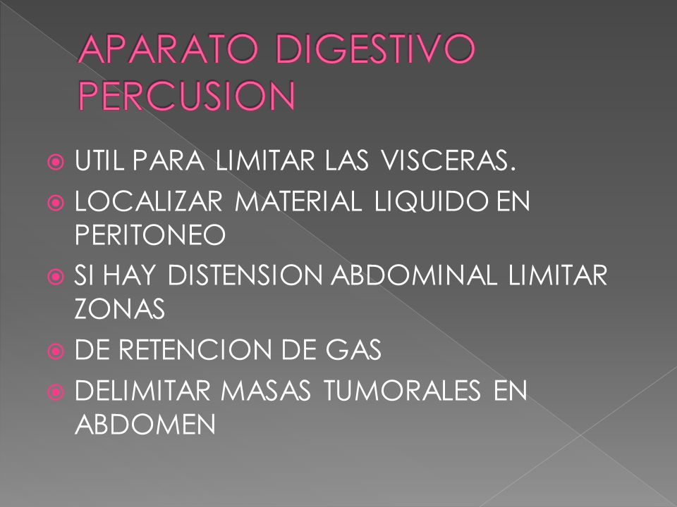 APARATO DIGESTIVO PERCUSION