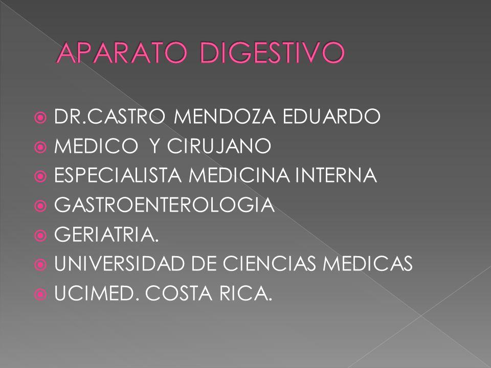 APARATO DIGESTIVO DR.CASTRO MENDOZA EDUARDO MEDICO Y CIRUJANO
