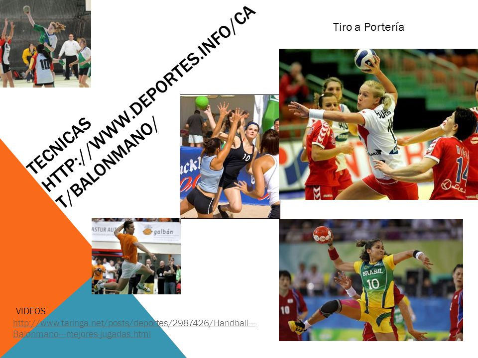 TECNICAS http://www.deportes.info/cat/balonmano/
