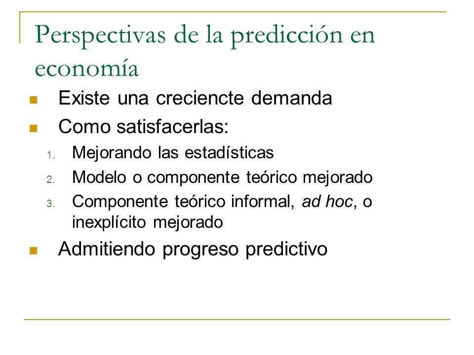 Perspectivas de la predicción en economía