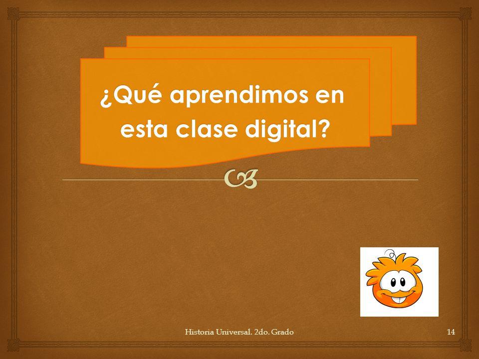 ¿Qué aprendimos en esta clase digital