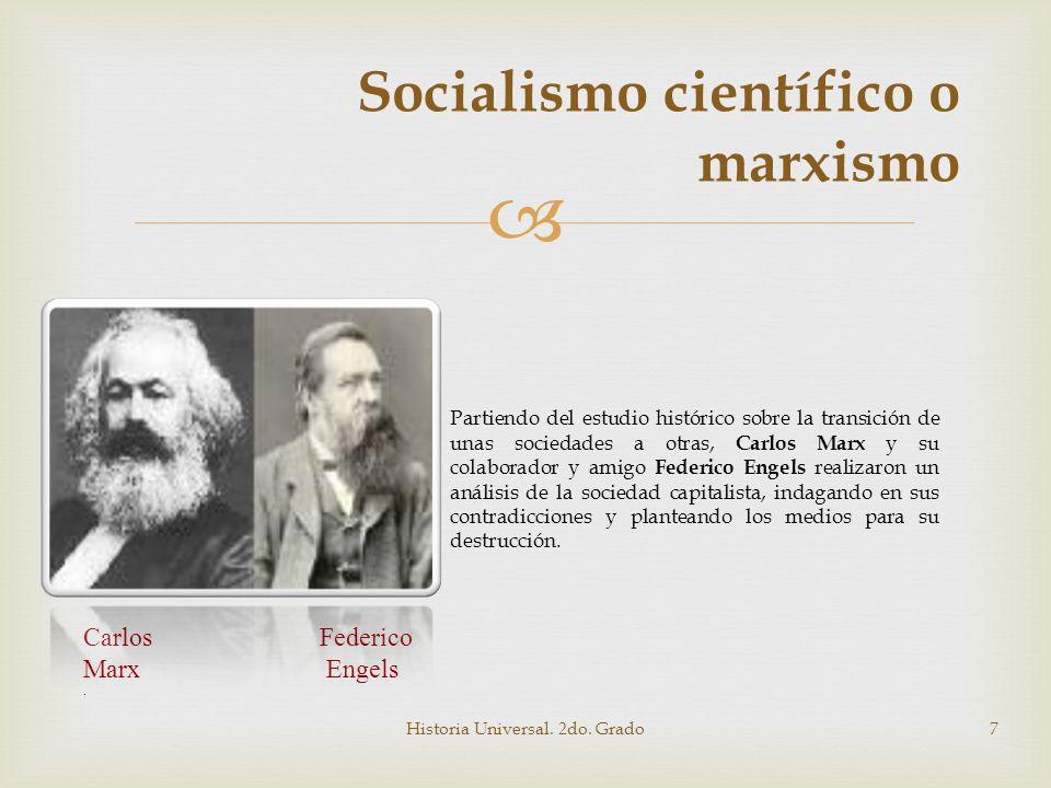 Socialismo científico o marxismo