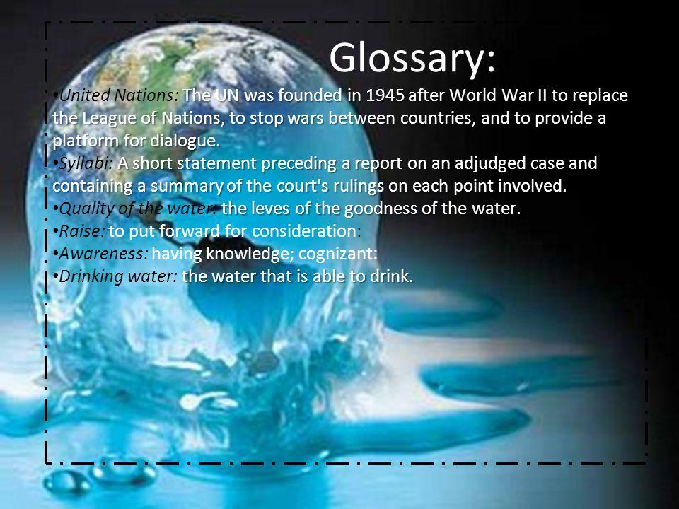 Glossary: