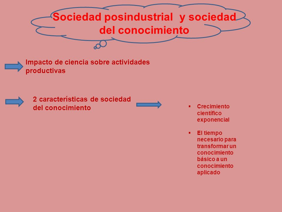 Sociedad posindustrial y sociedad del conocimiento
