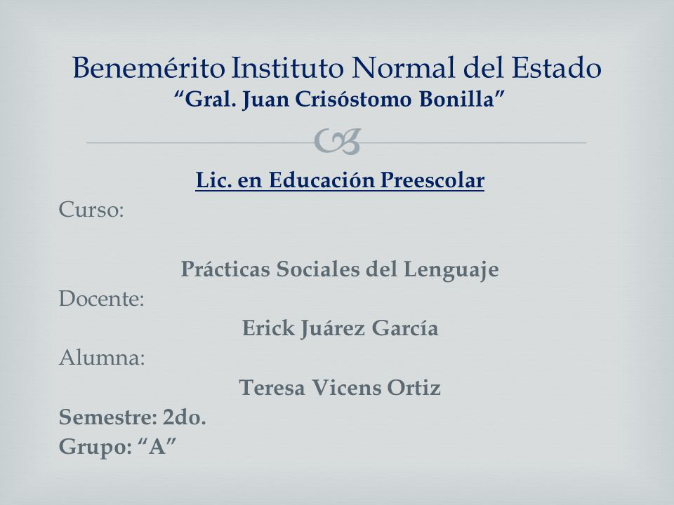 Benemérito Instituto Normal del Estado Gral. Juan Crisóstomo Bonilla