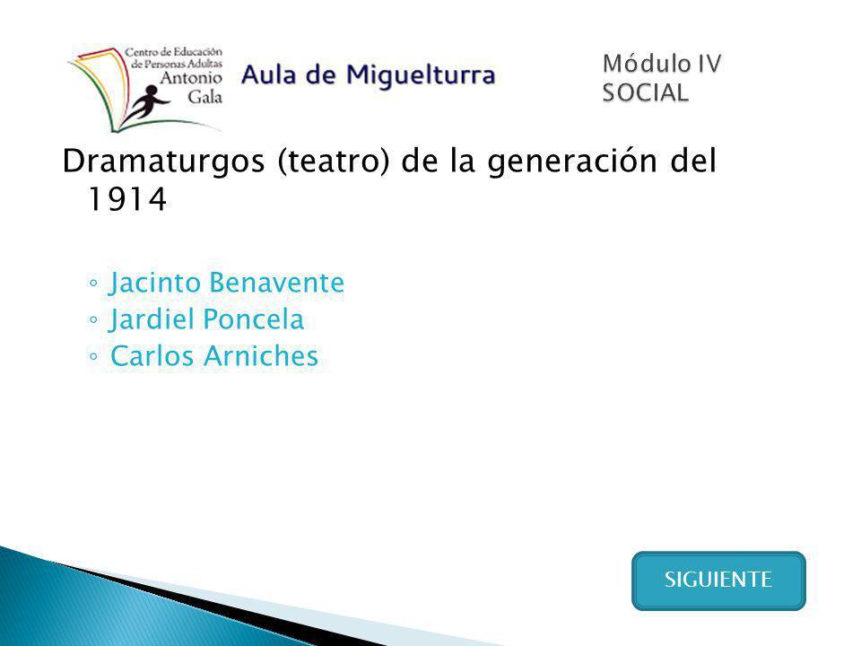 Dramaturgos (teatro) de la generación del 1914