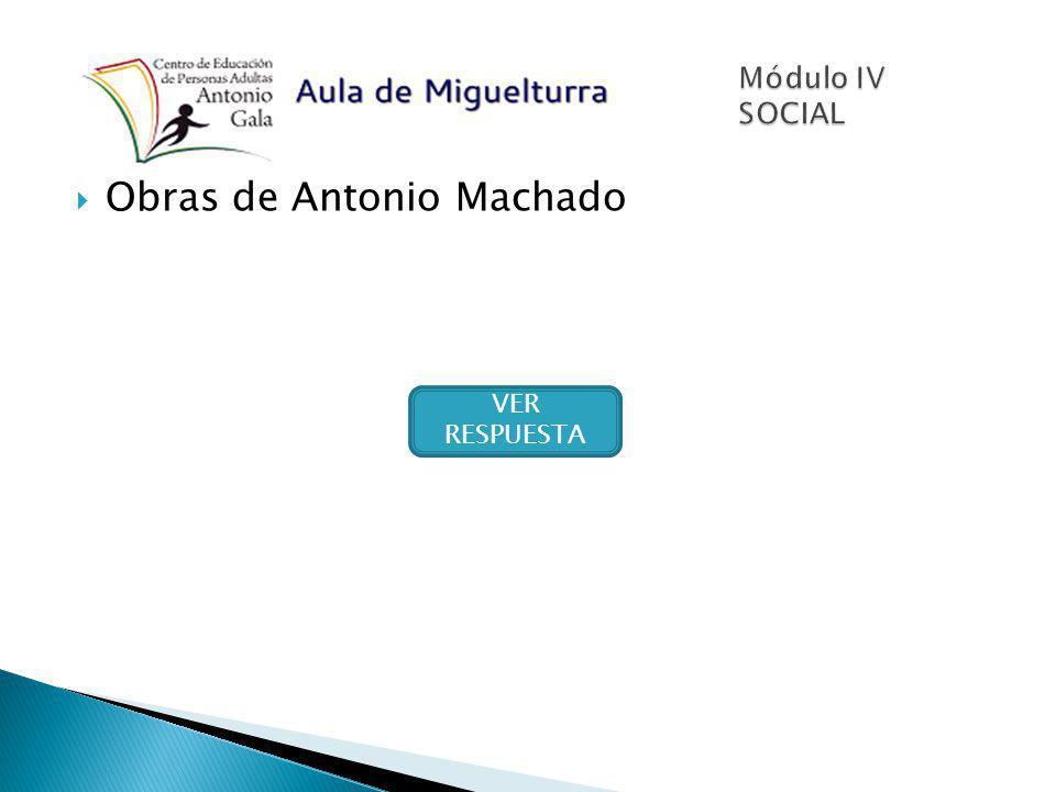 Obras de Antonio Machado