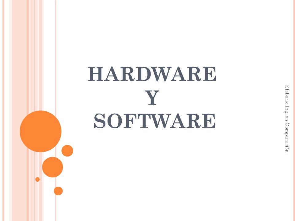 HARDWARE Y SOFTWARE Elaboro: Ing. en Computación