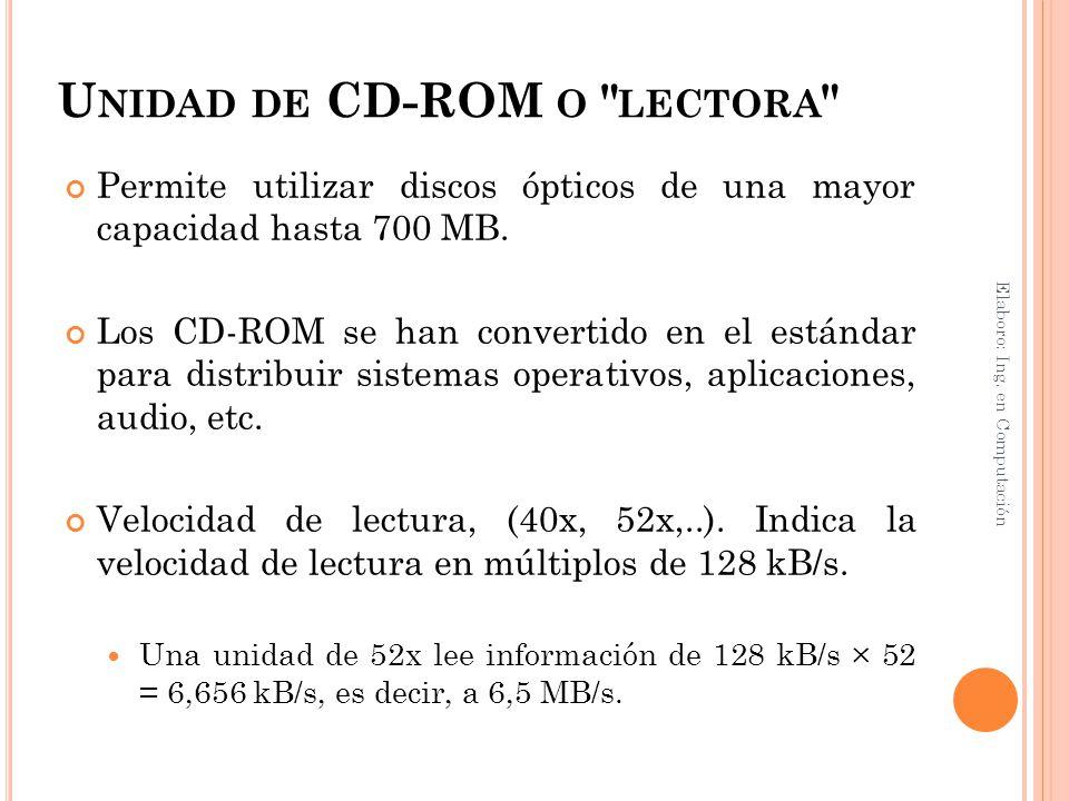 Unidad de CD-ROM o lectora