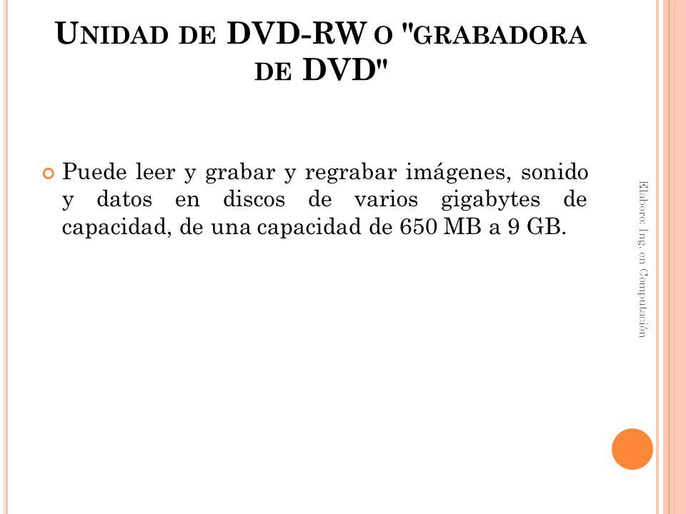 Unidad de DVD-RW o grabadora de DVD