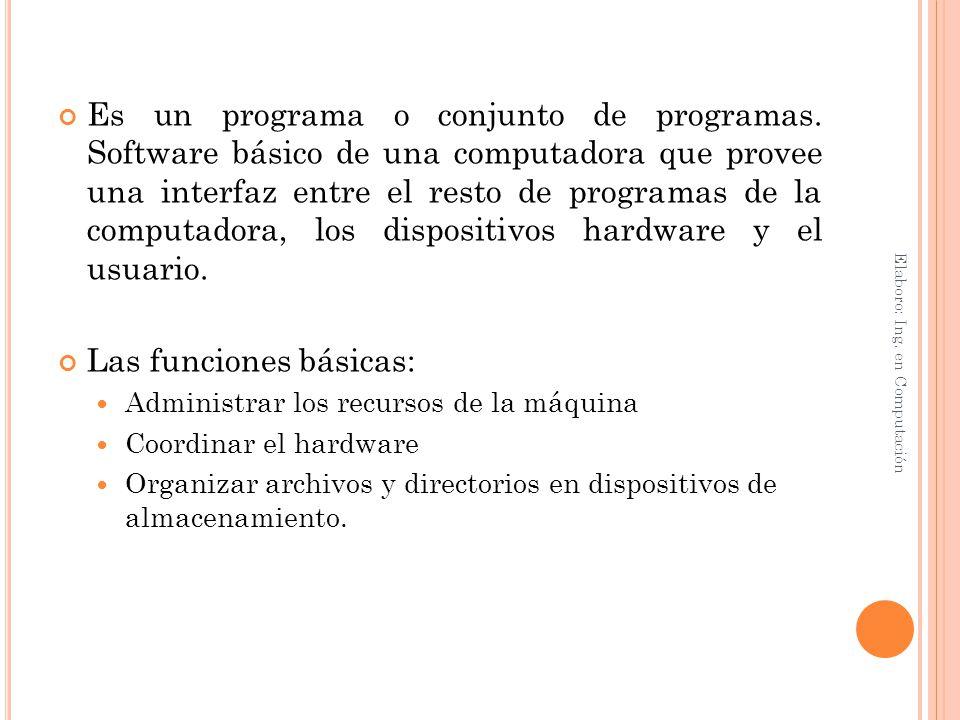 Las funciones básicas: