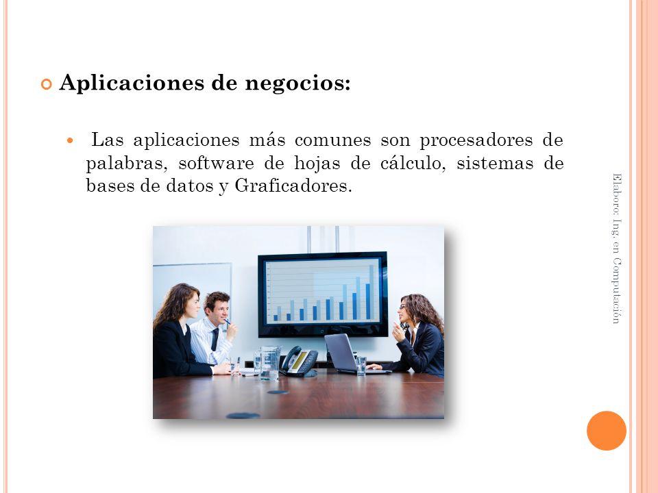 Aplicaciones de negocios: