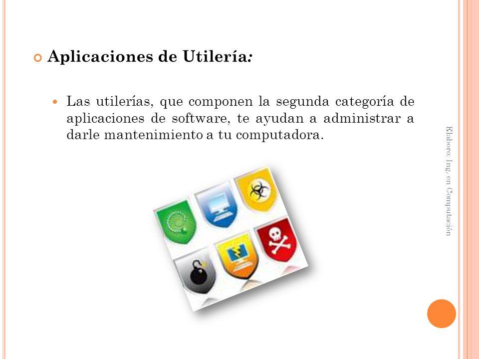 Aplicaciones de Utilería: